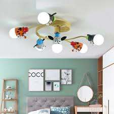 Led Animal Children S Ceiling Lamp Remote Cartoon Kids Bedroom Lighting Light Ebay