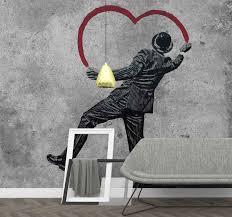 Banksy Graffiti On The Wall Art Wall Mural Tenstickers