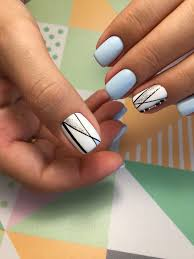 Pin by Addie Beck on Ногти   Classy nails, Short acrylic nails, Striped  nails