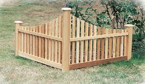 Rustic Natural Cedar Furniture Company Cedar Corner Accent Fence Shepherdnevejan