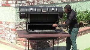 55 gallon barrel barbecue grill with