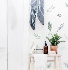 Water Color Leaves Wall Decals The Lovely Wall Company
