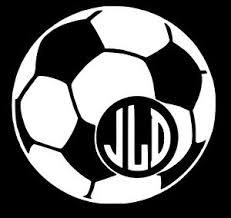 Custom Monogram Soccer Ball Car Window Laptop Yeti Ozark Vinyl Decal Sticker Ebay