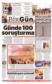 BirGün Gazetesi Manşeti - 13 Eylül 2020 Pazar