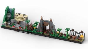 Lego® Custom Instructions Jurassic Park Skyline Architecture - Lego  Instructions - MocsMarket