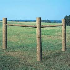 Unbranded 3 In X 3 In X 6 1 2 Ft Round Agriculture Fence Post P0300654 The Home Depot