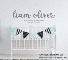 Baby Boy Quotes Name Nursery Decal Baby Boy Name Decal Boy Etsy