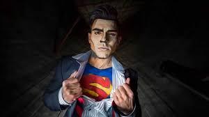 cartoon superhero makeup photoshoot for