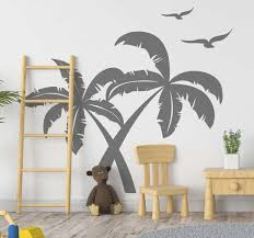 Tropical Palm Trees Wall Sticker Tenstickers