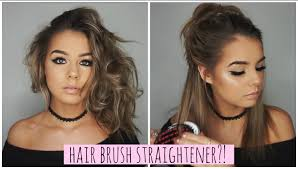 hair brush straightener does it work