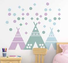 Teepee Tent In Pastel Colours Stickers For Kid Tenstickers