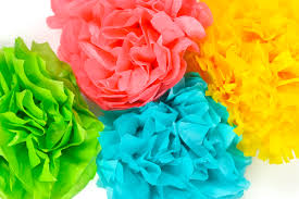 tissue paper flowers four ways