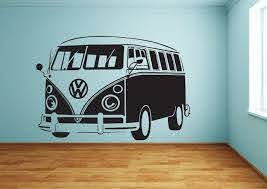 Cool And Large Vw Bus Wall Stickers Vw Bus Vw Campervan Vw Camper