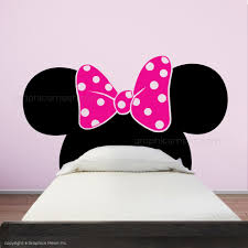 Minnie Mouse Ears With Bow Twin Size Headboard Kids Wall Decals Graphicsmesh