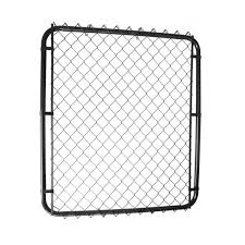 Master Halco 4 Ft Black 2 In Mesh High Adjustable Width Chain Link Gate Lowe S Canada