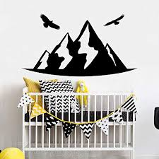 Wall Stickers Art Decor Decals Mountain Birdss Nursery Room Crib Home Interior Decorate Kids Playroom Educational Toys Planet