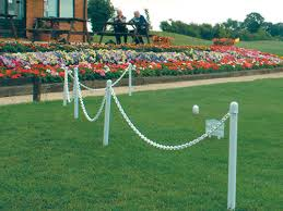 plastic chain garden fence
