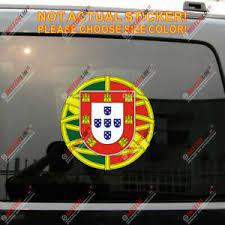 Portugal Portuguese Flag Decal Sticker Car Vinyl 4 Reflective Roundel Ebay