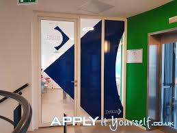 Large Window Decal Office Multiple Windows Blue Applyityourself