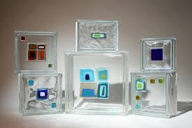 decorative art glass tile blocks