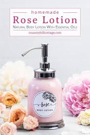 diy rose body lotion without beeswax
