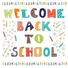 Welcome back to school Greeting card Back school design free image