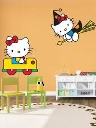 Hello Kitty Cartoon Art Wall Stickers For Kids Rooms Pvc Wall Decals Home Decor Ebay