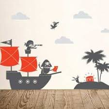 Kids Bedroom Ahoy Ships Pirate Wall Decals Kids Wall Decals Little Boys Rooms Kids Room Murals
