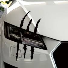 Best Sale 9849 37cm 9cm Funny Car Sticker Reflective Monster Scratch Stripe Claw Marks Car Auto Headlight Decoration Decal Car Stickers Cicig Co