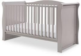 obaby ingham sleigh cot bed warm grey