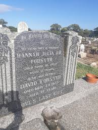 Hannah Julia Forsyth (Unknown-1938) - Find A Grave Memorial