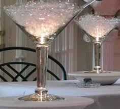giant martini glasses filled with