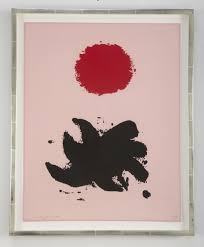 """A Silkscreen Titled """"Pink High"""" by Adolph Gottlieb – Avery & Dash  Collections"""