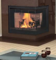 vantage hearth corner wood fireplace