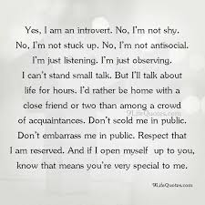 yes i am an introvert real life quotes on we heart it
