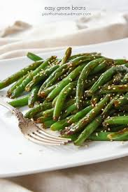 restaurant style easy green beans
