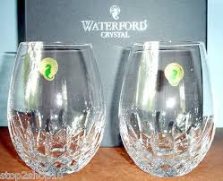 waterford lismore nouveau stemless red