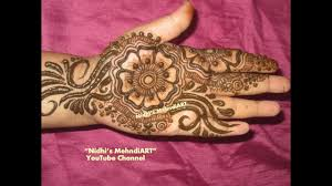 mehndi design simple for kids front hand