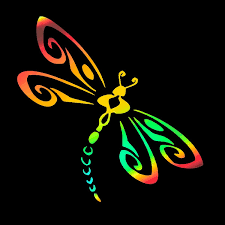 2pcs Laser Colorful Car Stickers Dragonfly Die Cut Vinyl Window Decal Sticker For Car Truck Wish