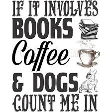 if it involves books coffee dogs count me in kids sweatshirt