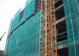 Dark Green Plastic Construction Fence Recycled Hdpe Pe Building Safety Net