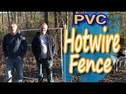 Electric Fence For Goats Pvc Pipe Project Hot Wire Polywire Youtube