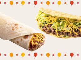 tacos and party burritos at taco bueno