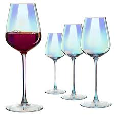 iridescent er large wine glasses