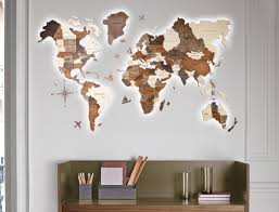 The First Ever 3d Wooden World Map To Chart Your Travels Yanko Design