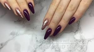 almond shaped gel nails with forms