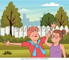 Teenagers Friends Smiling Having Fun Cartoon Stock Vector Royalty Free 1475152928