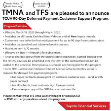 90 day deferred payment toyota of
