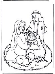 Kleurplaten Kribbe Bijbelkleurplaten Kerst