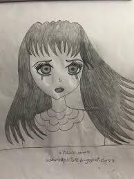 صور رسم بنات انمى حزينه بالرصاص عالم الكتب